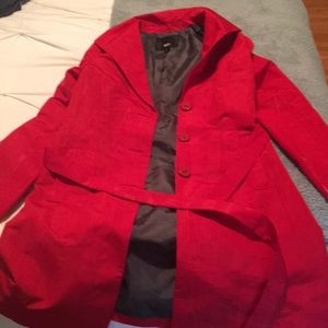 Missing red trench coat